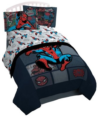 Spiderman Marvel 'Jump Kick' Twin Sheet Set