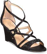 Badgley Mischka Ally Strappy Evening Wedge Sandals