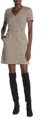 Tory Burch Priscilla Linen Blend Tweed Dress