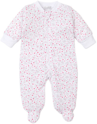 Kissy Kissy Silver Stems Zip-Front Footie Playsuit, Size Newborn-9 Months