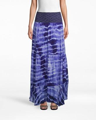 Nicole Miller Watercolor Tie Dye Combo Maxi Skirt