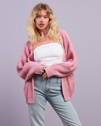 Missguided Women's Pink Cardigans - Batwing Cardigan - Size 10/12 at The Iconic