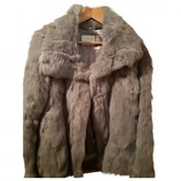 Gas Jeans Grey Rabbit Coat for Women
