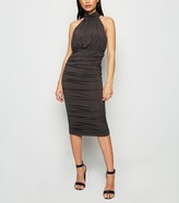 New Look AX Paris Ruched High Neck Dress