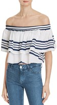 Faithfull The Brand Off-The-Shoulder Crop Sundown Top
