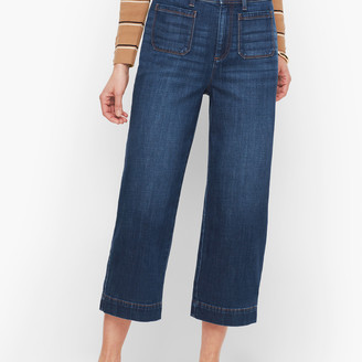 Talbots Wide Leg Crop Jeans - Comet Wash
