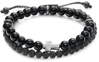 King Baby Studio Onyx Beads & Sterling Silver Bracelet