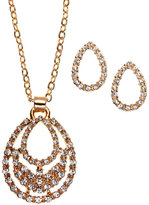 AK Anne Klein Gold-Tone Necklace & Earrings Set