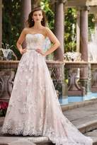 David Tutera for Mon Cheri Lace A-Line Gown