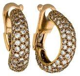 Cartier Yellow Gold Diamond Earrings