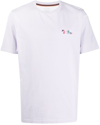 Paul Smith gradient embroidered logo T-shirt
