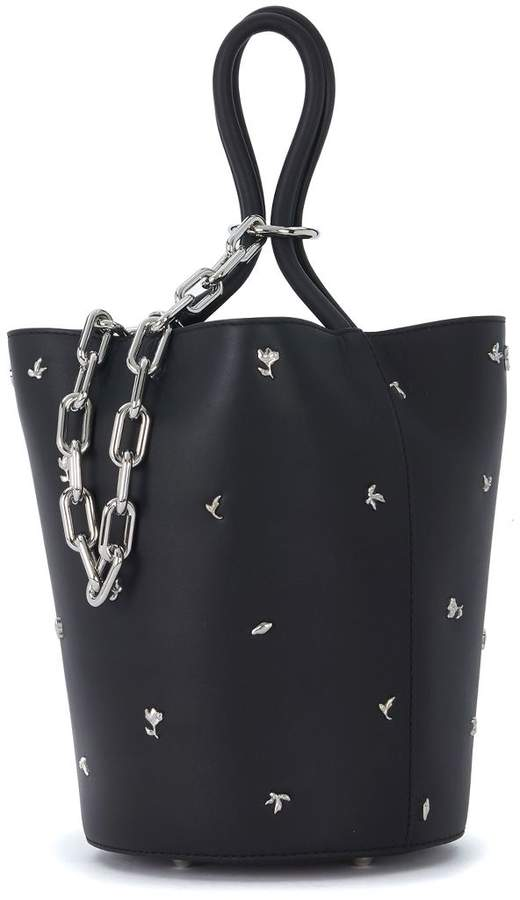 Alexander Wang Roxy Black Leather Handbag With Studs
