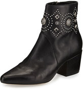 Sigerson Morrison Cailyn Studded Leather Ankle Boot, Black