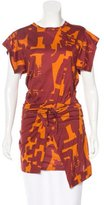 Isabel Marant Short Sleeve Abstract Print Tunic