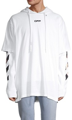 Off-White Caravaggio Arrows Hooded Long-Sleeve T-Shirt