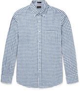 J.crew - Slim-fit Button-down Collar Gingham Linen Shirt