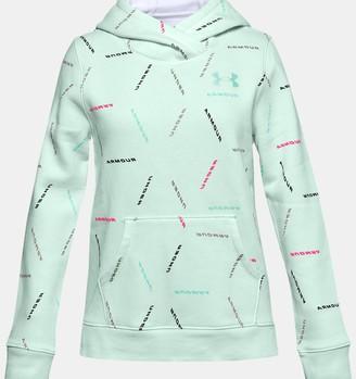 Under Armour Girls' UA Rival Fleece Printed Hoodie