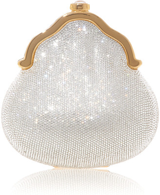 Judith Leiber Chatelaine Shimmering Crystal Pouch Clutch Bag
