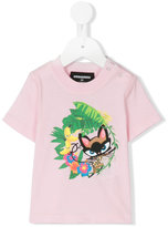 DSQUARED2 cat print T-shirt - kids - Cotton - 6 mth