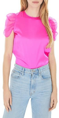 Generation Love Tessa Ruched Puff-Sleeve Top