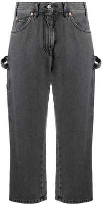 MM6 MAISON MARGIELA High Waist Cropped Jeans