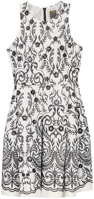 Taylor Embroidered Sequin Sleeveless Dress