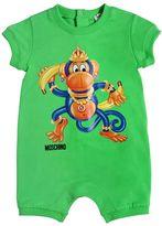 Moschino Monkey Printed Cotton Jersey Romper