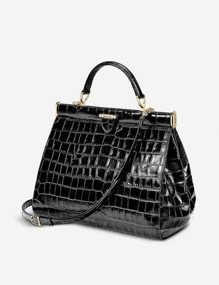 Aspinal of London The Dockery large embossed leather handbag