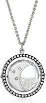 "Moritz Glik Kaleidoscope"" 18K and 14K White Gold Floating Diamond Crescent Pendant Necklace"
