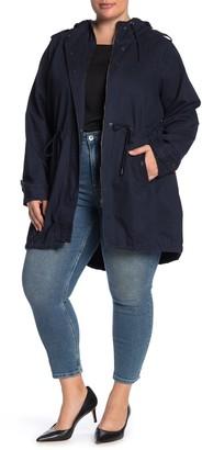 Junarose Jrjaliva Solid Parka Jacket (Plus Size)