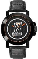 Harley-Davidson Men's Quartz Watch with Black Dial Analogue Display and Black Leather Strap 78A110