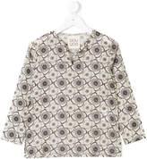Douuod Kids floral split neck blouse