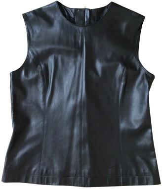 Hermes Black Leather Top for Women Vintage