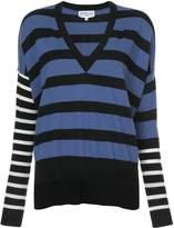 Derek Lam 10 Crosby Striped V-Neck Pullover