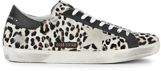 Golden Goose Superstar leopard-print calf hair sneakers
