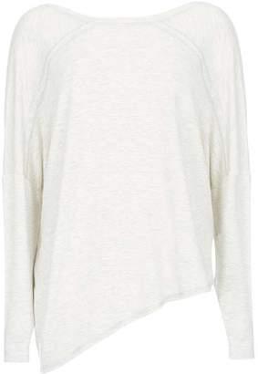 Mint Velvet Grey Asymmetric Sweatshirt
