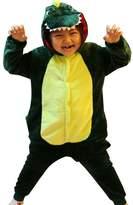 iSZEYU Dinosaur Children Onesie Pajamas for Boys Girls Plush One Piece Jumpsuit Costume