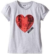 Moschino Kids - Short Sleeve Heart Logo T-Shirt Girl's T Shirt