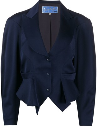 Thierry Mugler Pre Owned 1980s Peaked Lapels Draped Blazer