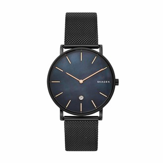 Skagen Men's Hagen Quartz Analog Stainless Steel and Leather Watch