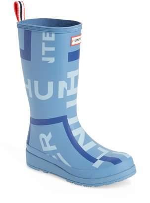 Hunter Exploded Logo Tall Rain Boot