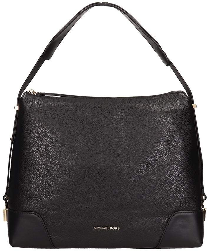 eabd5381c63ae2 Michael Kors Black Leather Tote Bags - ShopStyle