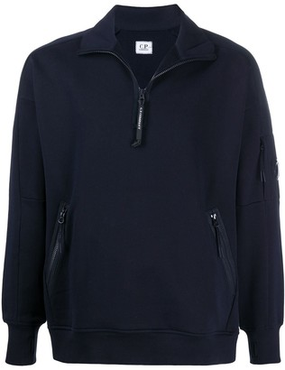 C.P. Company Plain Zipped-Collar Sweatshirt