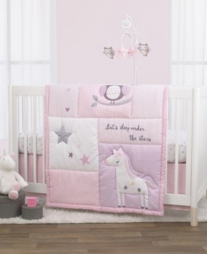 NoJo Unicorn, Owl and Stars 3-Piece Crib Bedding Set Bedding