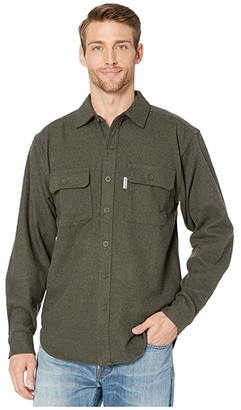 Wolverine Heritage Claw Twill Shirt (Dark Olive Heather) Men's Clothing