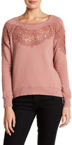 Pam & Gela Annie Hi-Lo Lace Inset Sweatshirt
