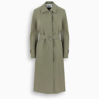 Harris Wharf London Light green single-breasted trench coat