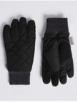 M&S Collection Quilted Performance Gloves with ThinsulateTM