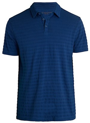 John Varvatos Textured Stripe Polo T-Shirt