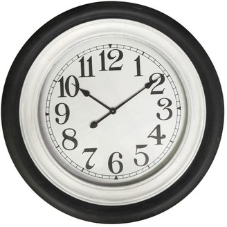 One World Black And White Wall Clock